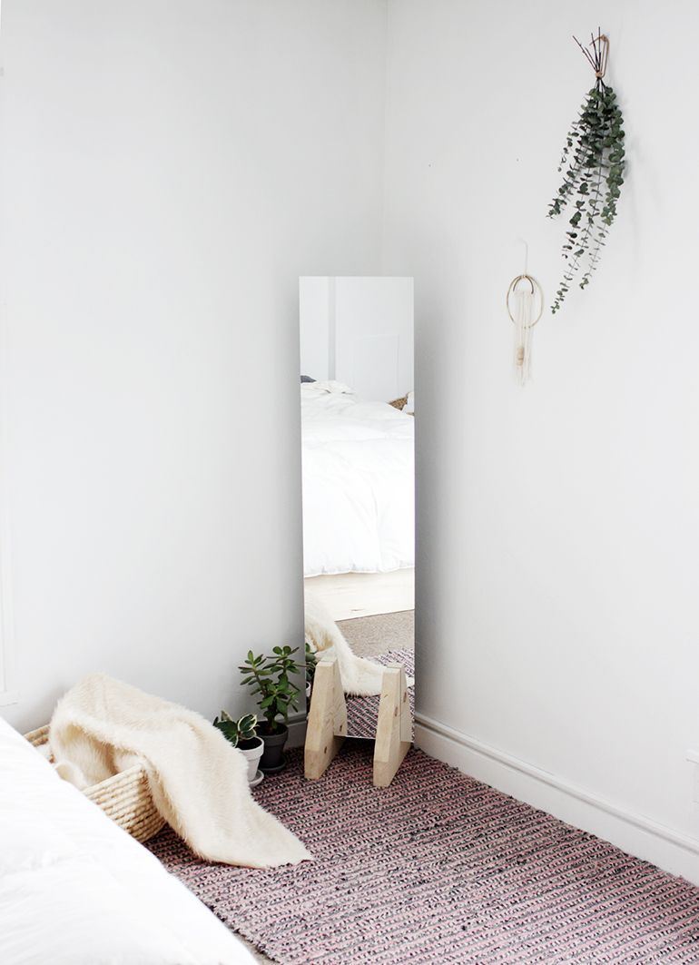 DIY Minimal Floor Mirror (The Merrythought) | Floor mirror and Minimal