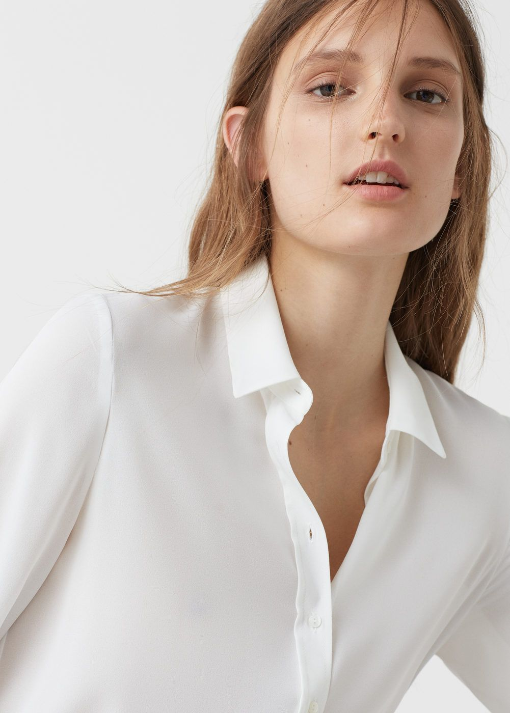 chemise fluide femme chemisiers pour femmes mango france et chemisier. Black Bedroom Furniture Sets. Home Design Ideas