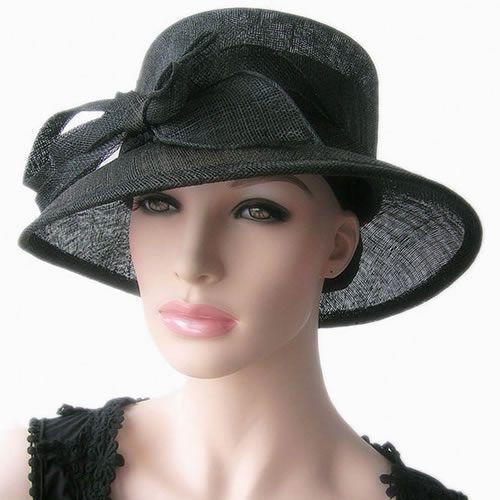 Dress Hats For Women | Womens Black Wide Brim Formal Church ...