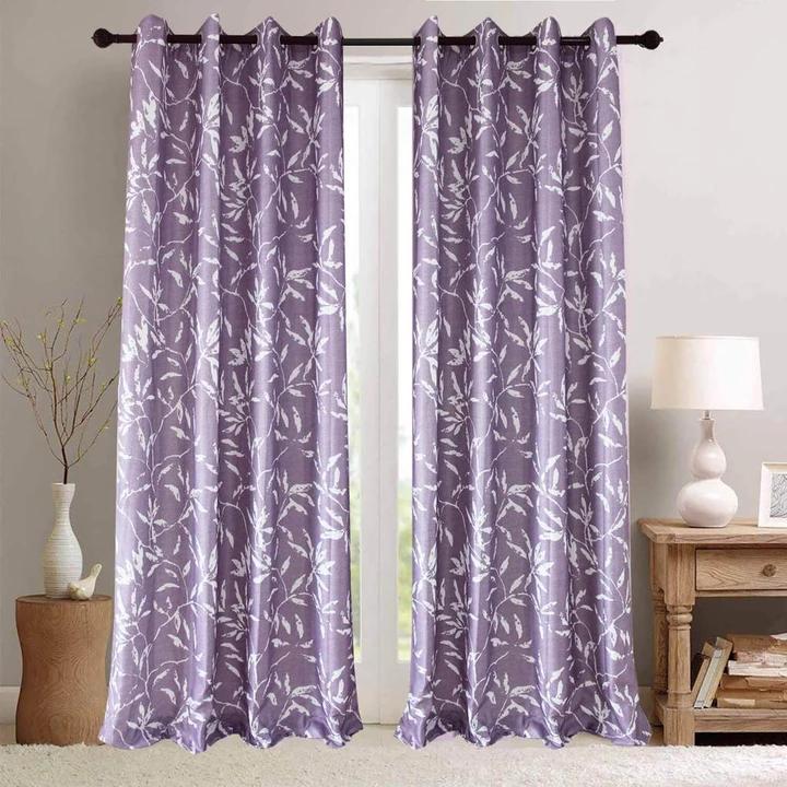 Purple Curtains White Bamboo Leaf Drapes Radiant Orchid Purple Curtains Curtains Living Room Blackout Curtains Living Room