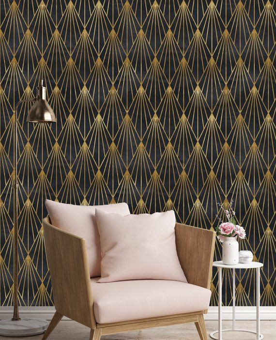 Want To Make Your Home Unique And Stand Out Brighten Up Your Walls With High Quality Water Resistant An Wallpaper Bedroom Art Deco Interior Art Deco Bedroom