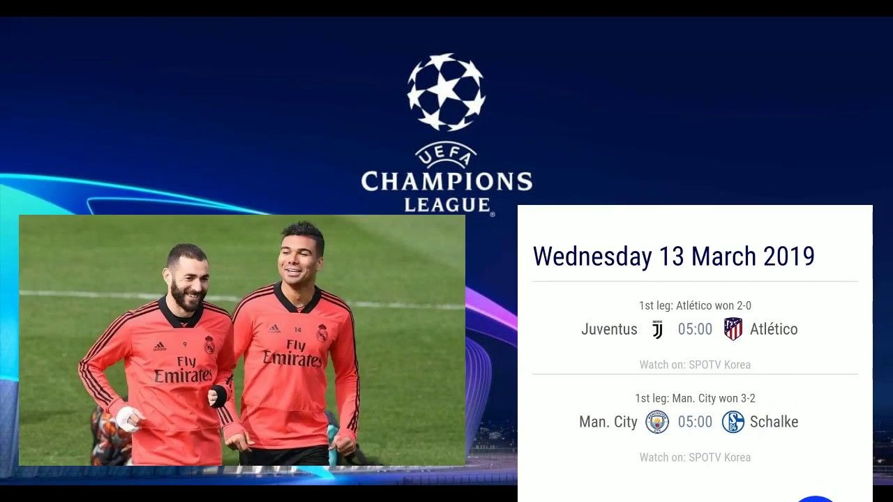 Uefa Champions League Fixtures Today Matches Round Of 16