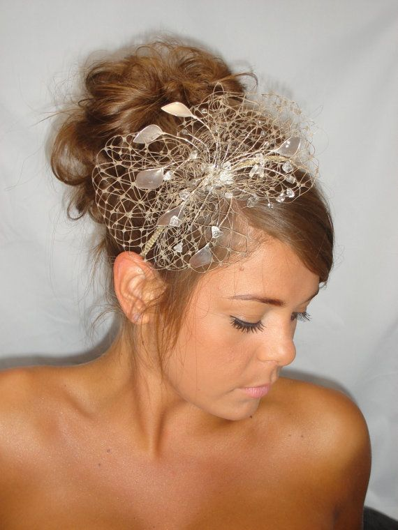 Gold Fascinator Mother Of The Bride Summer Wedding