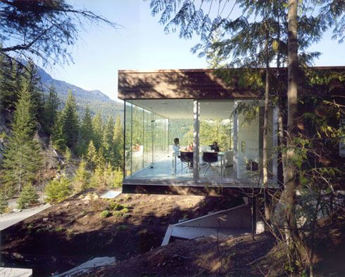 Mountain Chalet Is Built Into The For A Snowboarding Pro Marc Morisset