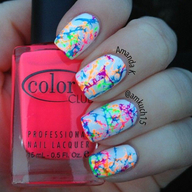 Cant stop staringi used the hairspraywater marble trick and hairspraywater marble trick and color clubs neon nail polishes prinsesfo Choice Image
