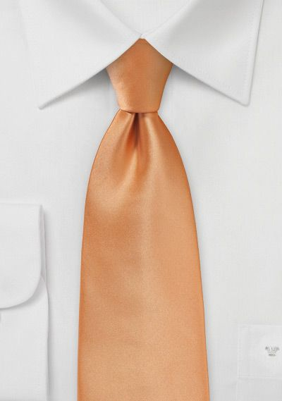 Shiny Apricot Colored Tie | Bows-N-Ties.com