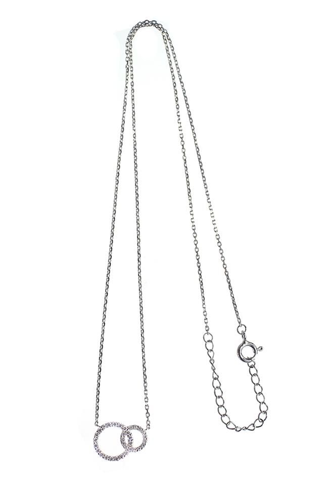 Circle of Protection Necklace with silver chain #LoveMarkph #Silver #CubicZirconia #RhodiumPlated