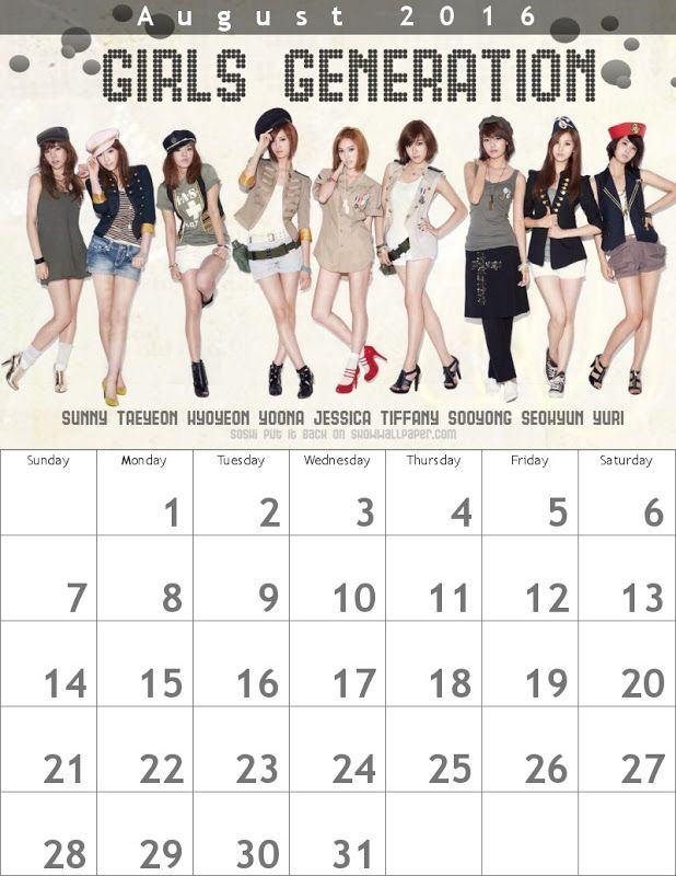 少女時代 カレンダー