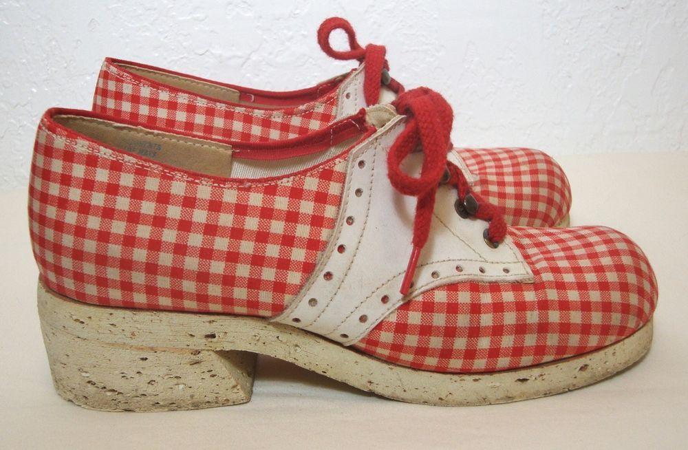 Gaymode VTG 50s Saddle Shoes Red White