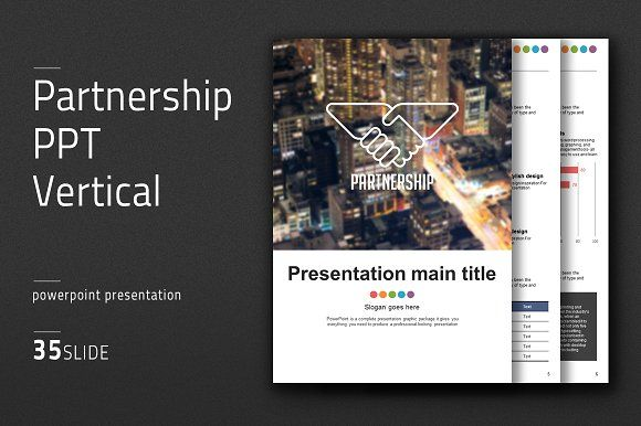 Partnership Ppt Vertical By Good Pello On Creativemarket