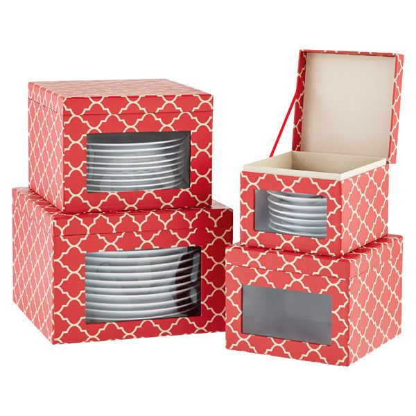 Superieur Holiday Dinnerware Storage Cases