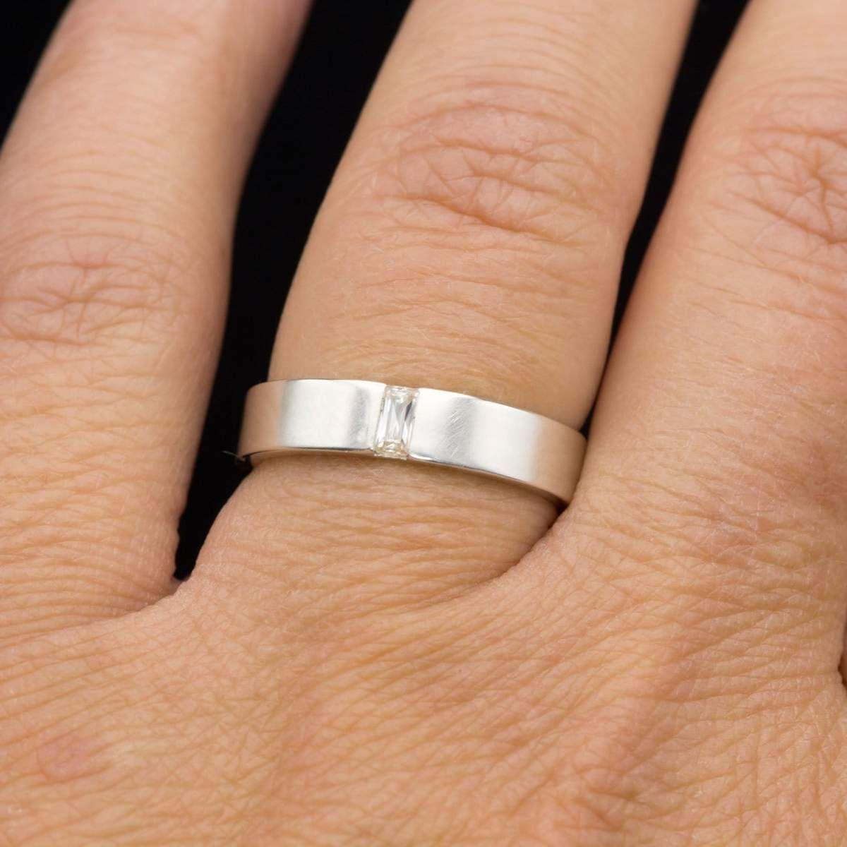 Simple Channel Set Baguette Moissanite Men S Wedding Band Comfort Fit In 2020 Mens Wedding Bands Diamond Wedding Sets Diamond Wedding Bands