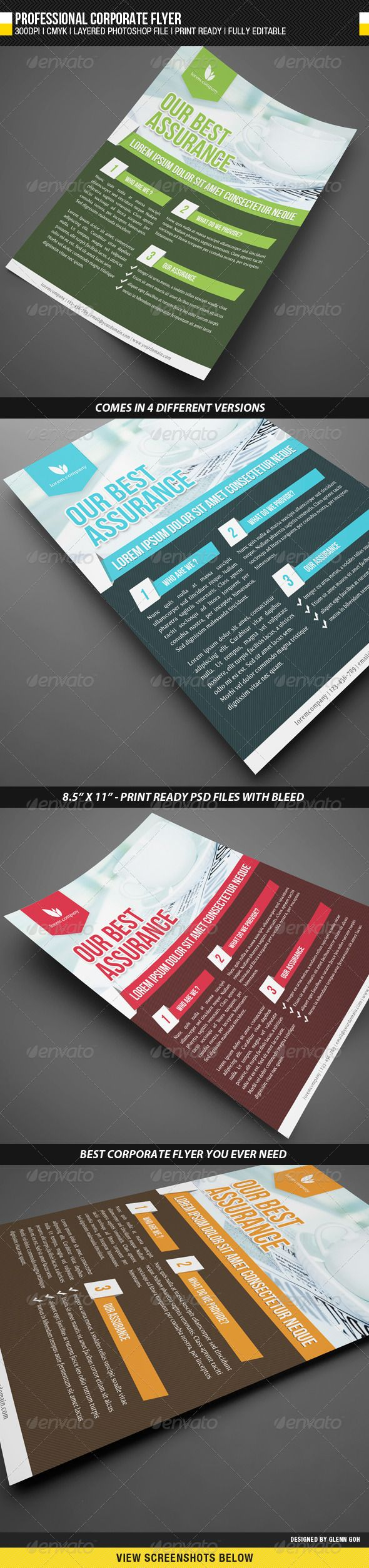 Professional Corporate Flyer  Graphicriver Item For Sale  Studio
