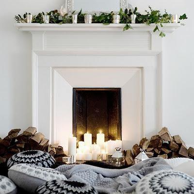 Decorar la chimenea en Navidad Navidad