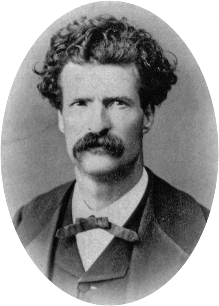 Samuel Clemens, known by his nom de plume Mark Twain, circa 1867.