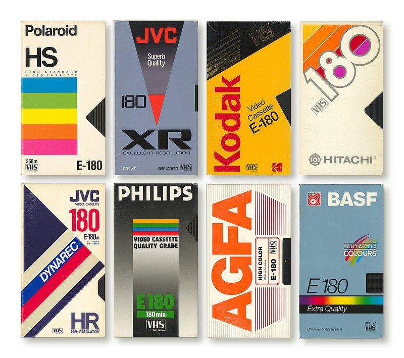 80 S Vhs Tapes Inspiration For Design Or Colors 90s Graphic Design Packaging Design Trends 80s Design