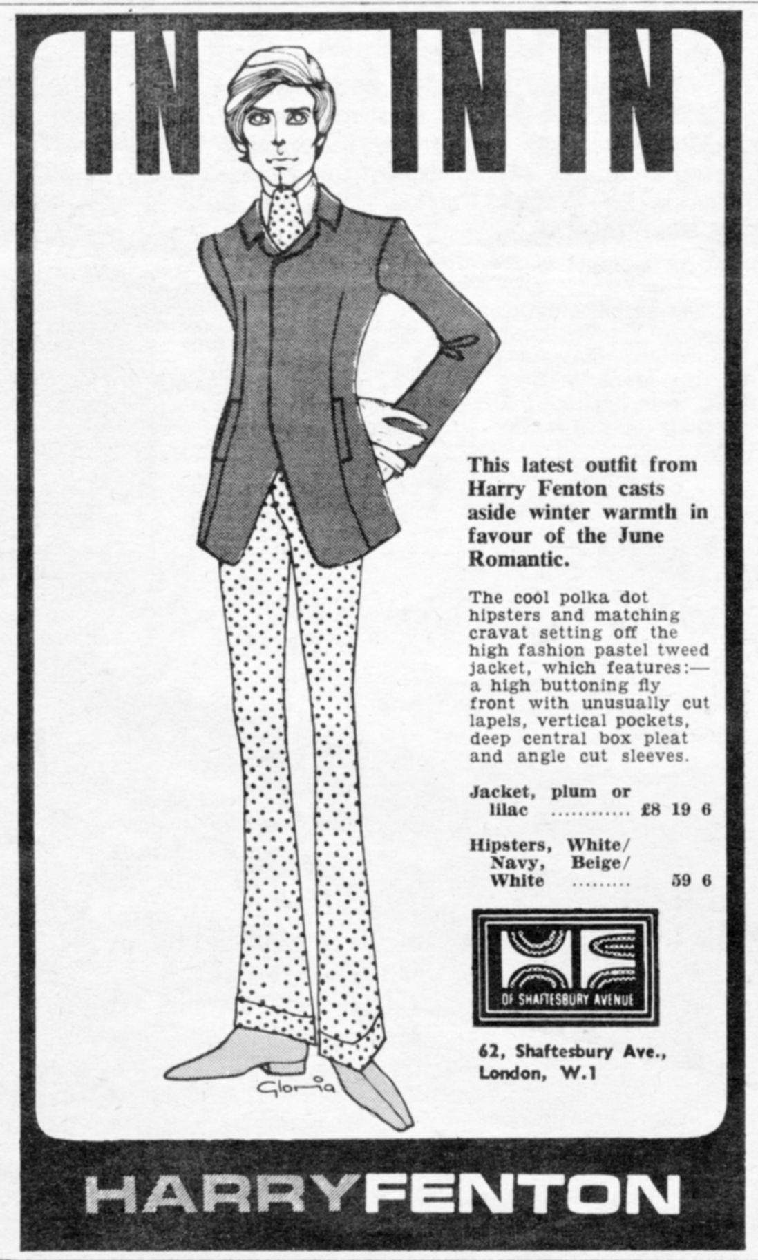 3392e10659 Harry Fenton ad from Great Britain. | Vintage clothing ads | Mod ...