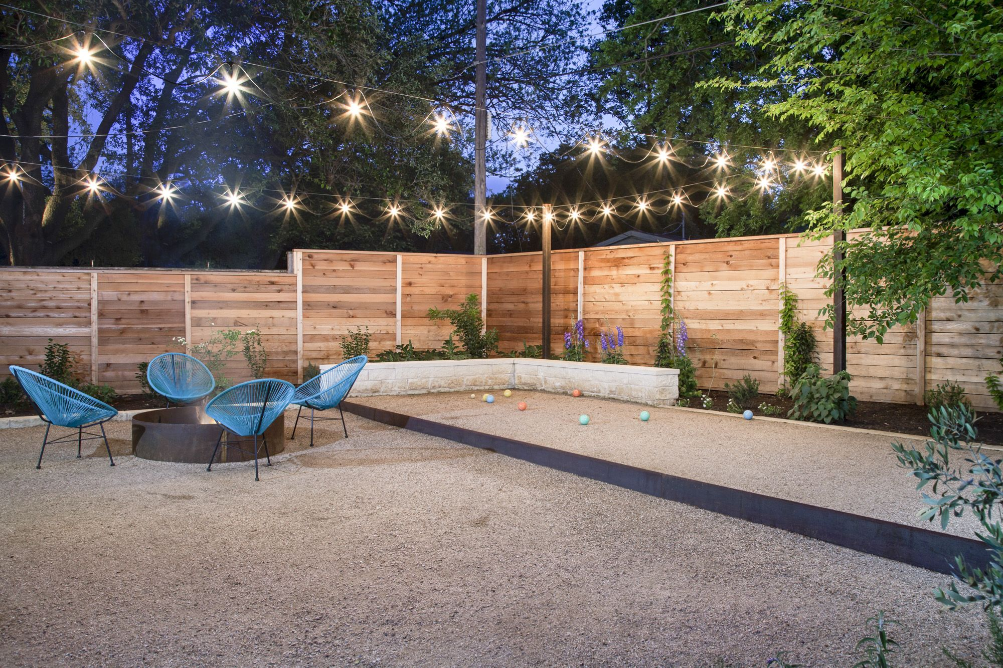 fire pit and bocce ball court somos pinterest bocce ball