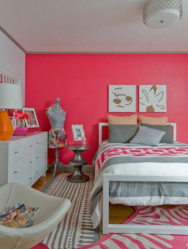 Pinke Wandfarbe u2013 Wie können Sie Ihre Wände kreativ streichen - streichen schlafzimmer