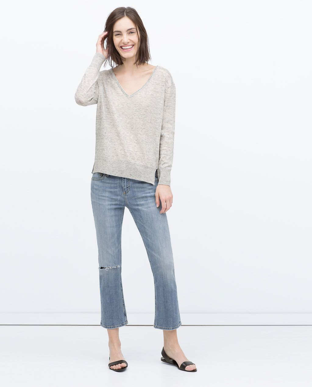 ZARA COLLECTION AW15 KNITTED SWEATER WITH VENTS Fall 2015