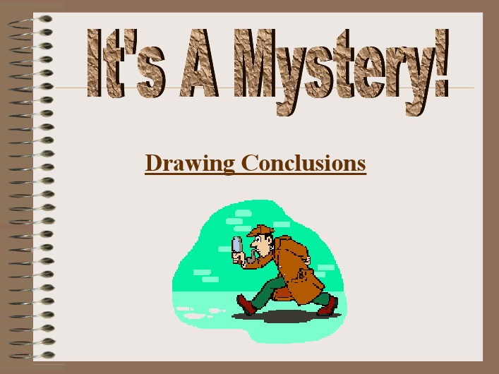 Powerpoint Presentation On Drawing Conclusions Reading