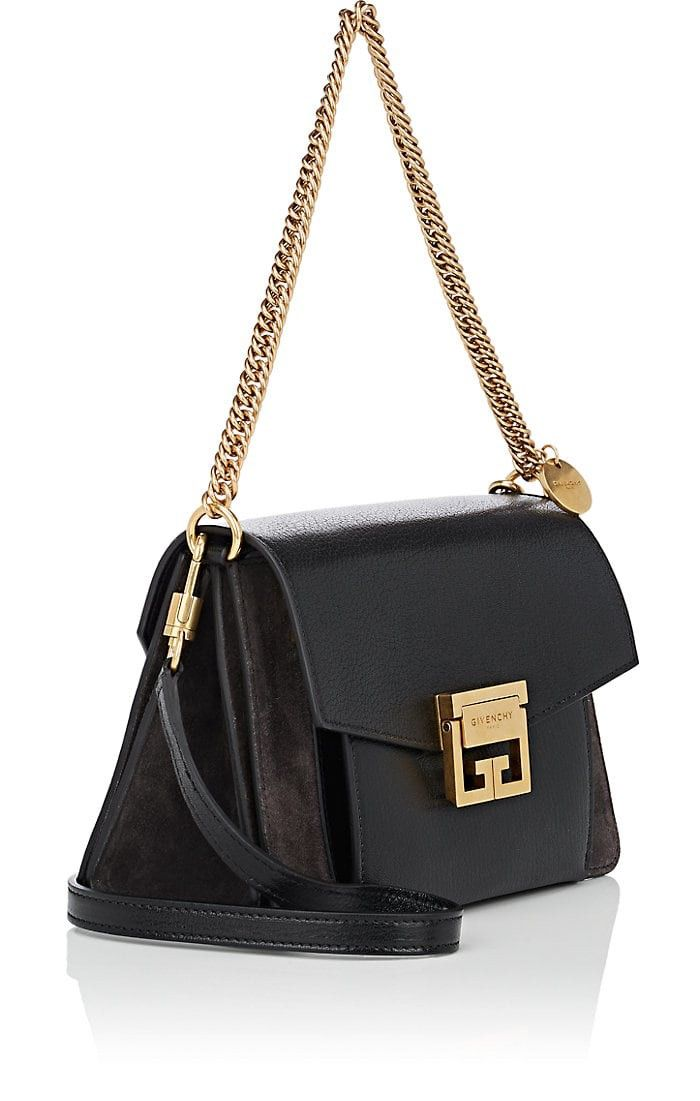 ddb2c79083264 GV3 Small Leather & Suede Shoulder Bag by Givenchy   S T Y L E ...