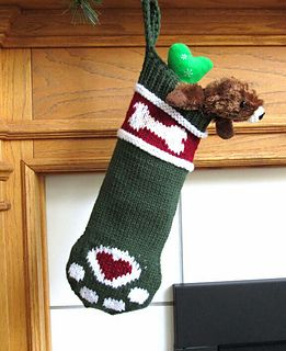 Show everyone that your dog is truly a member of the family and loves Christmas too. The stocking measures approximately 5 1/2 inches wide x 15 inches long when worked in worsted weight yarn. It will hold lots of treats and toys for your pooch.