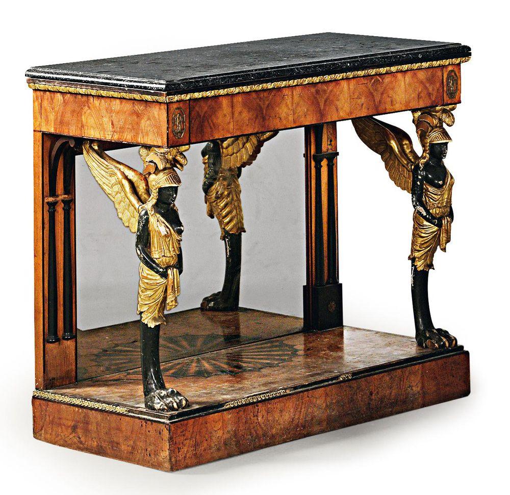 Rare pair of early biedermeier console tables 67 400 art deco kitchen - Mobili biedermeier ...
