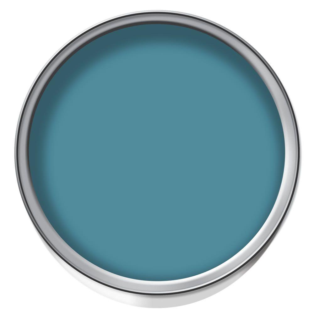 wilko colour silk emulsion paint electric teal. Black Bedroom Furniture Sets. Home Design Ideas