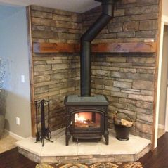 Pacific Wood Furnaces Salem Oregon Stone Work Fireplace