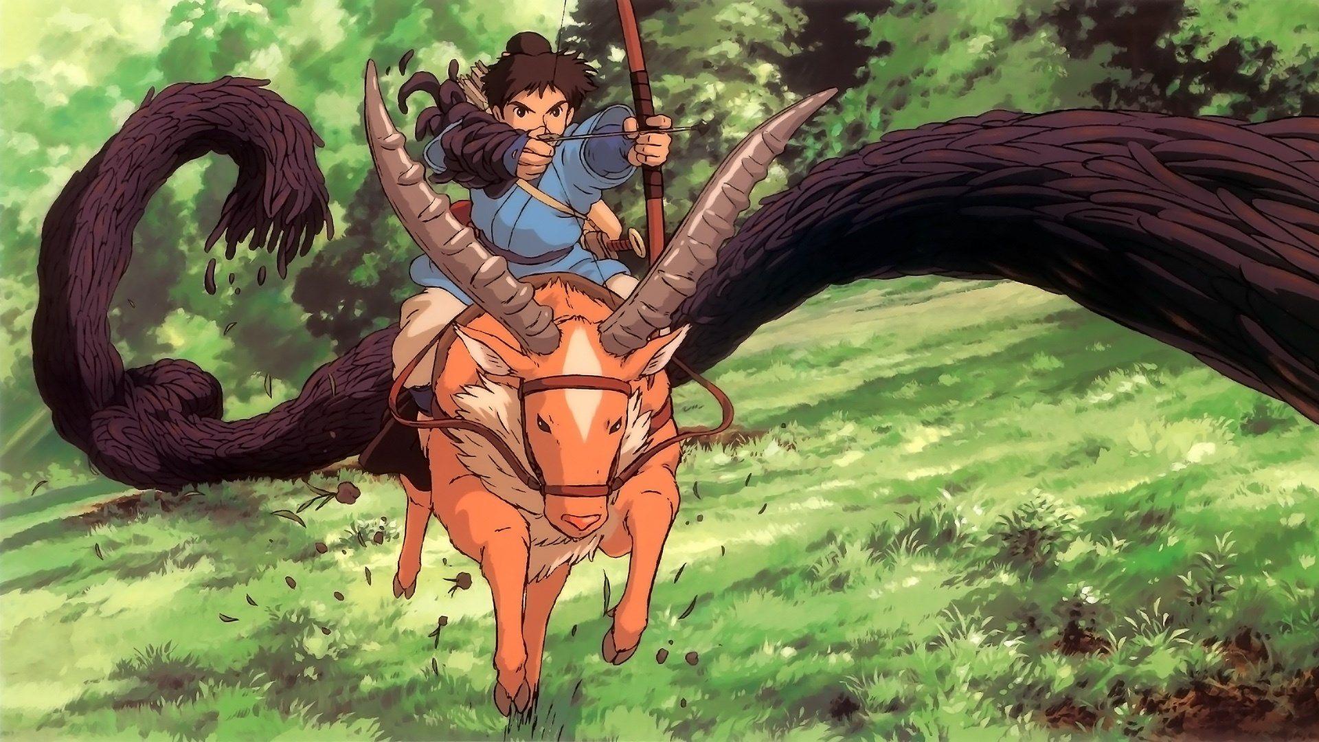 1920x1080 Wallpaper Desktop Princess Mononoke Studio Ghibli Art Studio Ghibli Studio Ghibli Movies