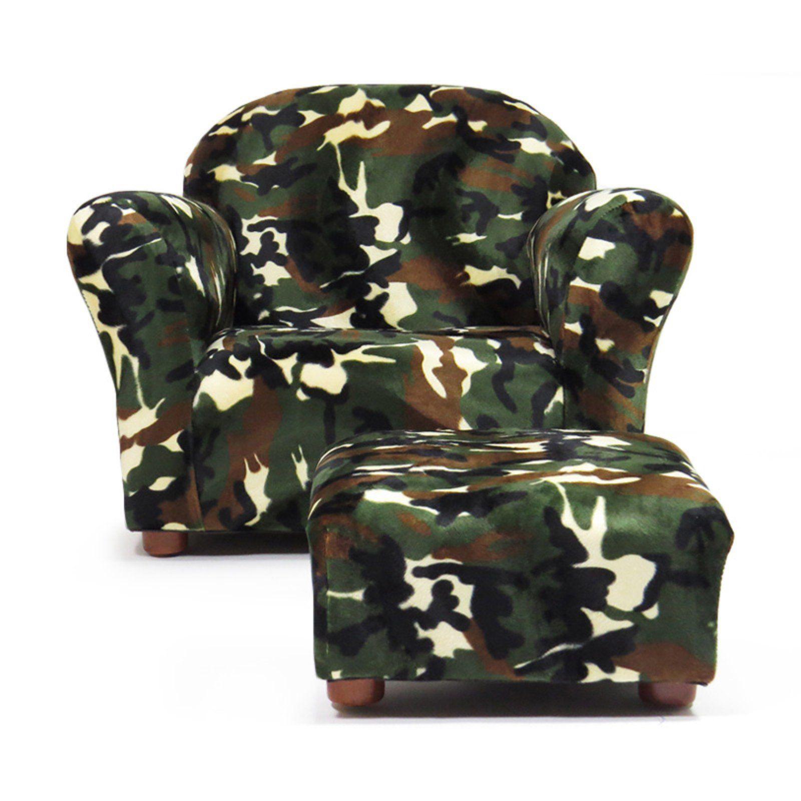 Keet Roundy Kids Chair Camo With Ottoman Club Chairs Bean Bag