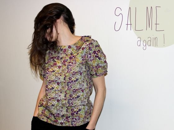 Patron Salme Loose Fitting Pleated T-shirt (pdf) | couture or not ...