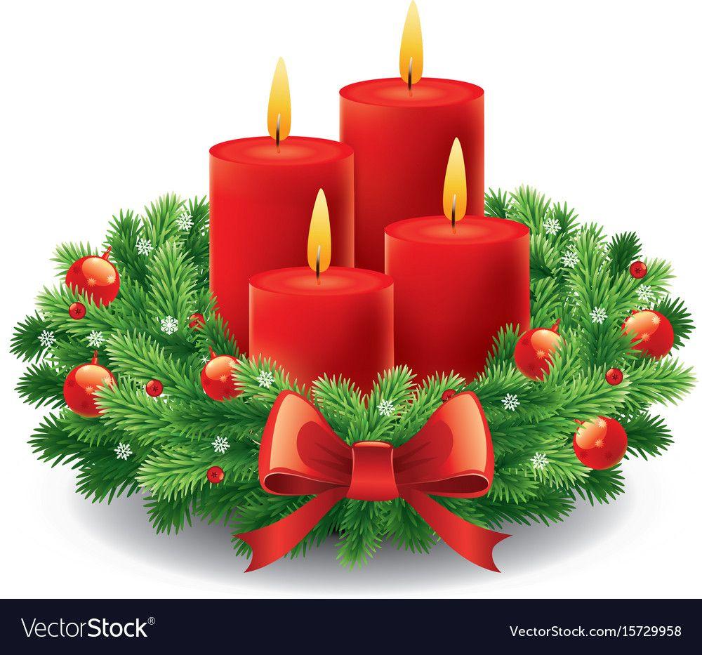 Advent Wreath With Burning Candles Download A Free Preview Or High Quality Adobe Illustrator Ai Ep Truques De Pintura Bolo De Natal Decorado Cartao Romantico