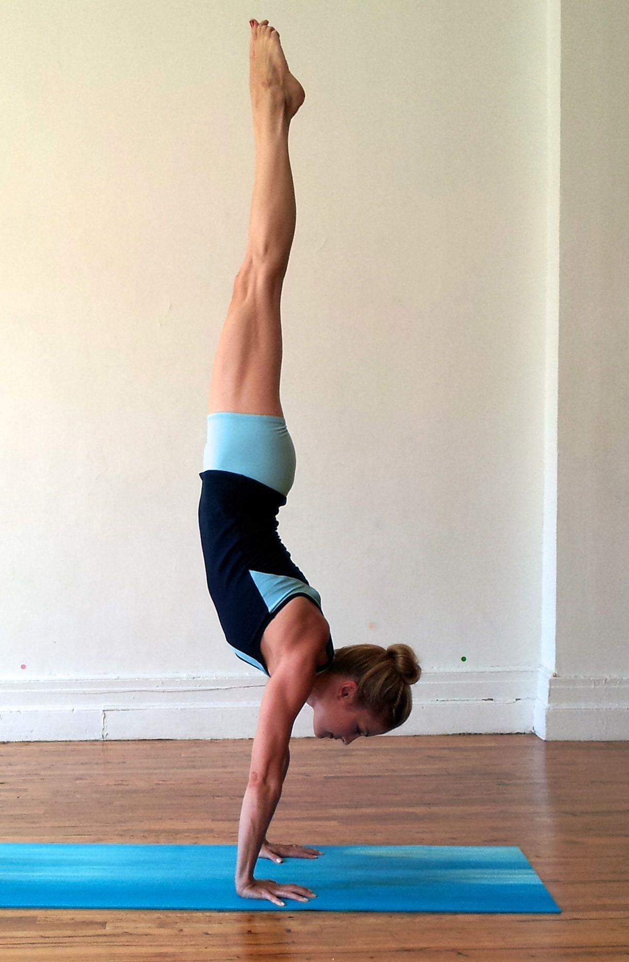Handstand pose downward facing tree full arm balance for Yoga tumblr inspiration