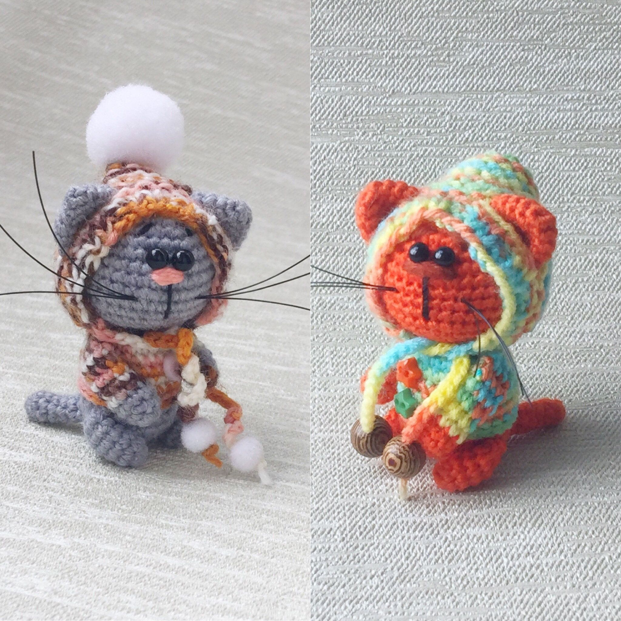 Crochet Little Kitten Pattern Pdf Cat English Language Tutorial Amigurumi Pattern In 2020 Rainbow Hats Crochet Patterns Grey Kitten