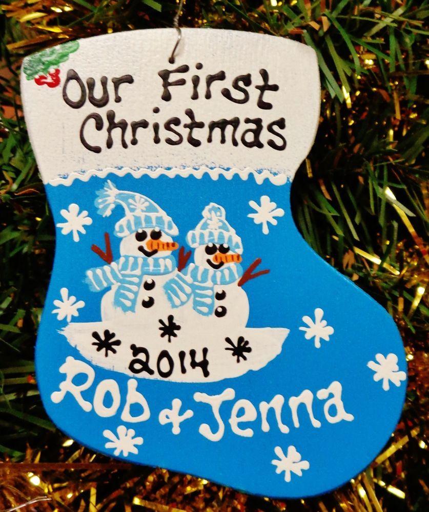 Personalized couples christmas ornaments - U Choose Names Year Personalized Our First Christmas Ornament Snowman Couple Unbranded