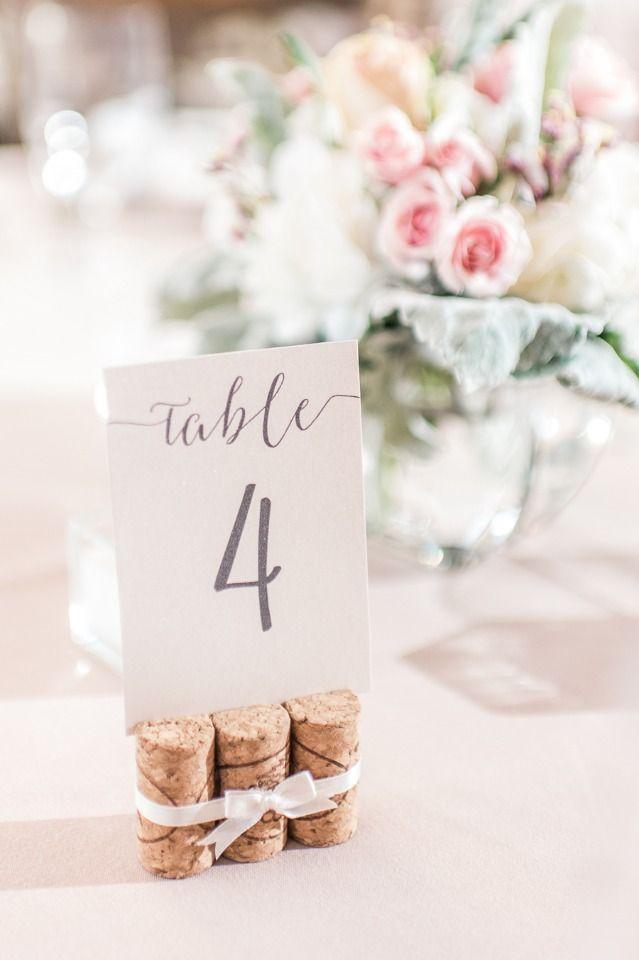 Super Elegant And Dreamy Natural Blush Outdoor Vineyard Wedding Wedding Table Markers Cork Wedding Wine Cork Wedding