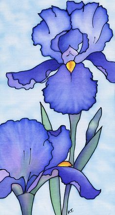476c1f4e136213f5d6ad188ead94e43c Jpg 236 440 Iris Painting Flower Art Flower Painting