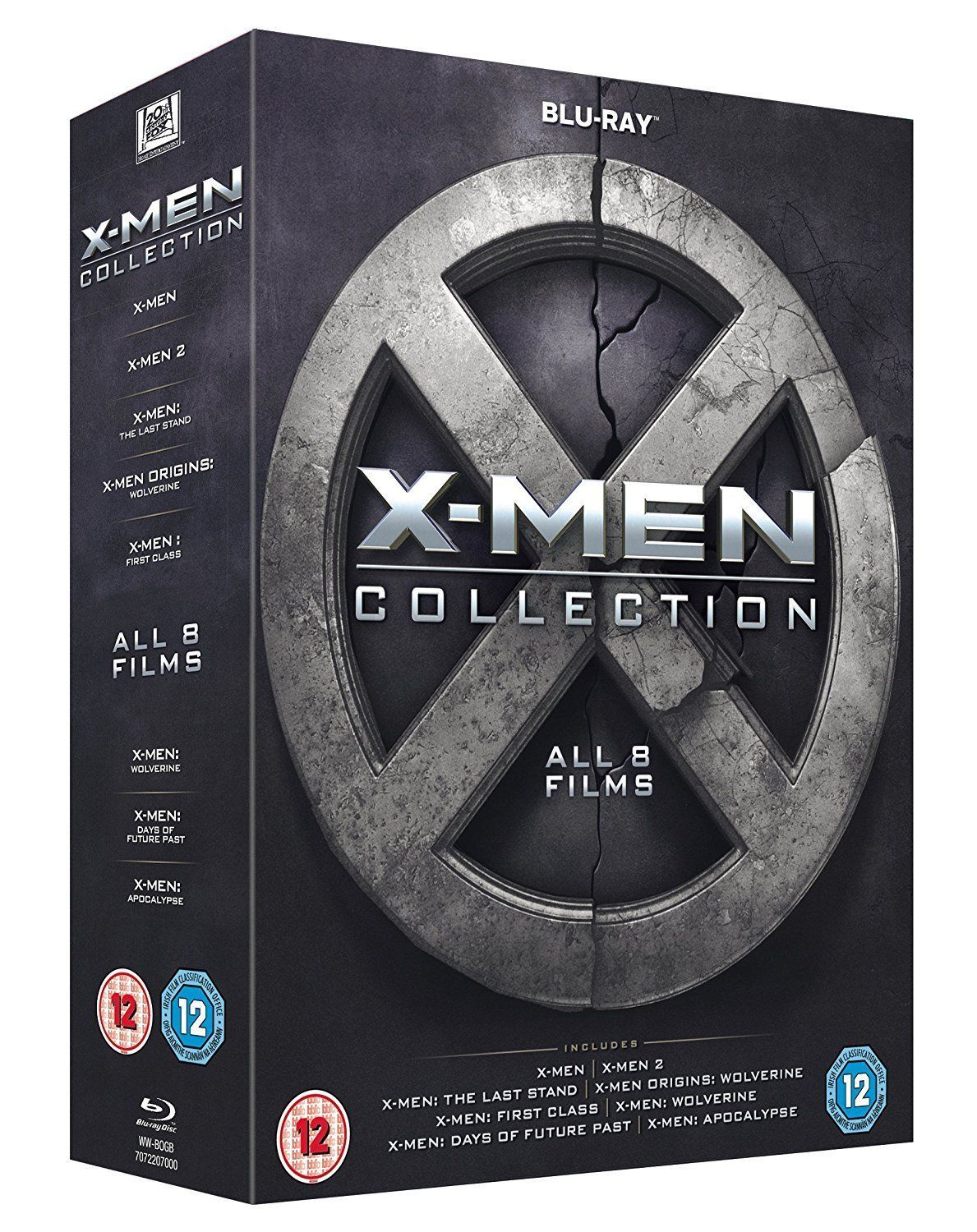 X Men Collection All 8 Films Box Set 1 8 Blu Ray 8 Discs Region Free New X Men Boxset Blu Ray Discs