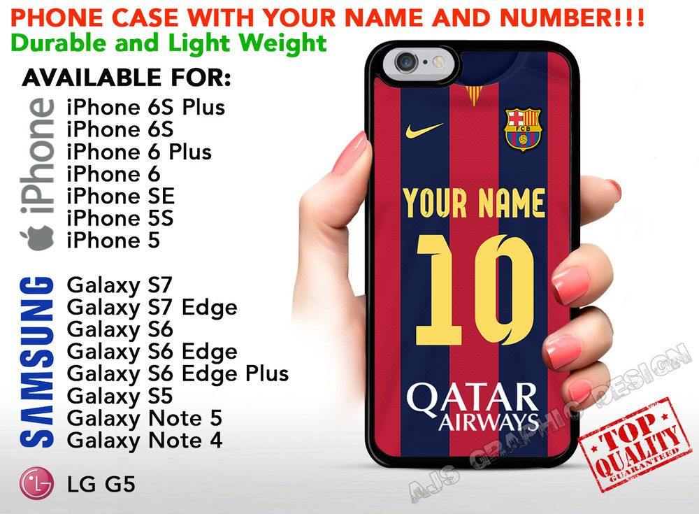 788ced32d7d Custom FC BARCELONA Phone Case Cover w Your Name   Jersey Number iPhone…