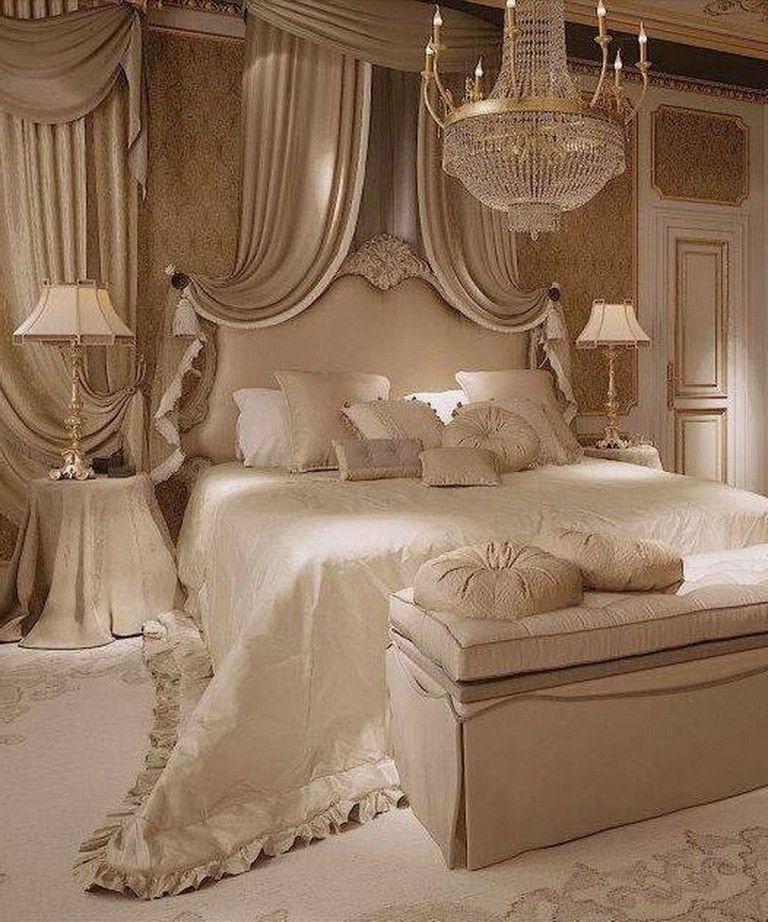 85 Comfortable And Elegant Bedroom Decor Ideas Elegant Bedroom Decor Luxurious Bedrooms Champagne Bedroom