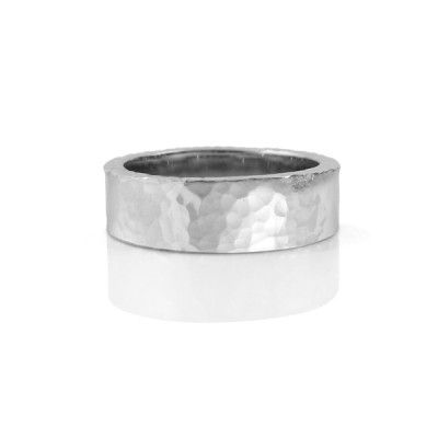 Hammered wedding bands already have bumps and dings that you add to with everyday wear. They have character and are extremely durable. Shop at: http://www.studio1098customjewellery.com/collections/rings/hammered-wedding-rings #texture #hammeredring #texturedring #weddingband #uniquejewlry #uniquefashion #whitegold #custom #handmade #mensfashion #womensfashion