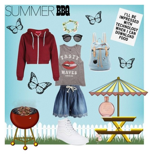 """""""Yum! Yum! BBQ DAY!"""" by starshine89 ❤ liked on Polyvore featuring Billabong, Chicwish, Vans, Paul & Joe Sister, Yves Saint Laurent and Estée Lauder"""