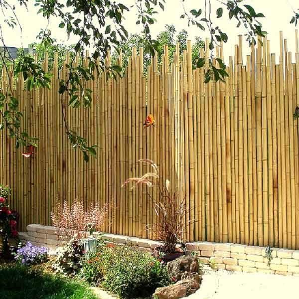 Clôture en bambou naturel style japonais TOPI - 1,5m x1,7/2m ...
