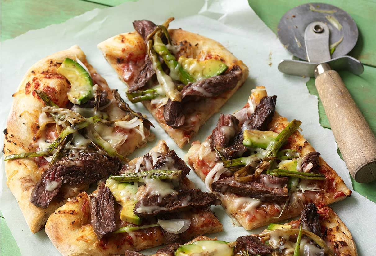 Carne Asada and Cebollitas Pizza #asadatacos