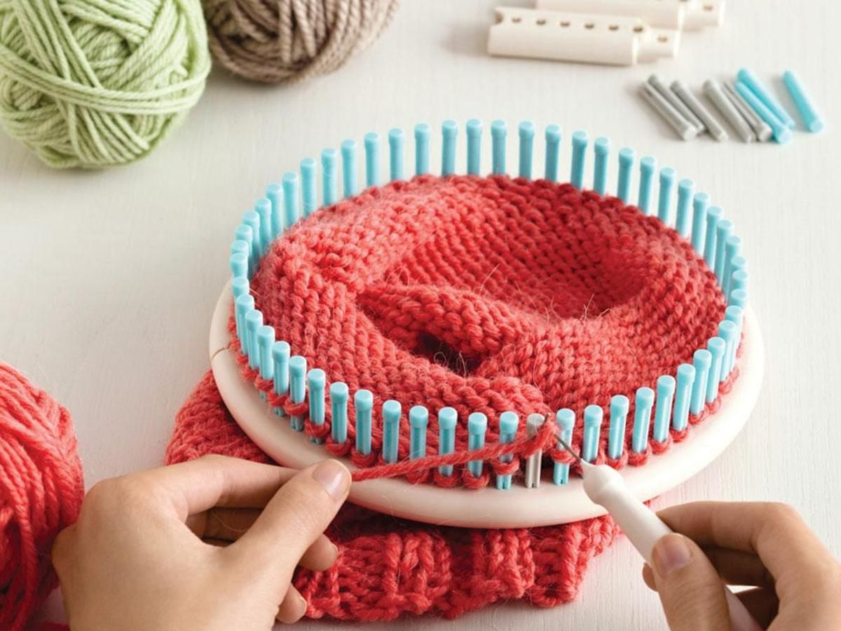 Lion Brand Martha Stewart Knit and Weave Loom Set | Telar, Tejidos ...