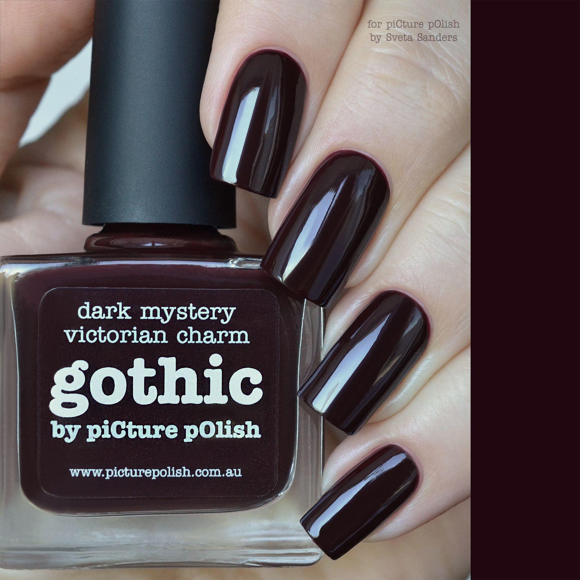 Nail Polish Gothic | Gothic nails, Picture polish and Gothic