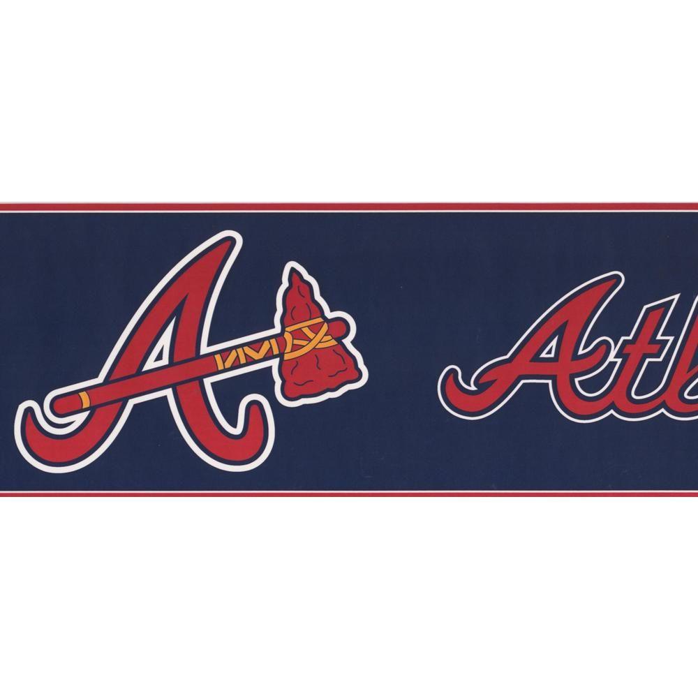 York Wallcoverings Atlanta Braves MLB Baseball Team Fan