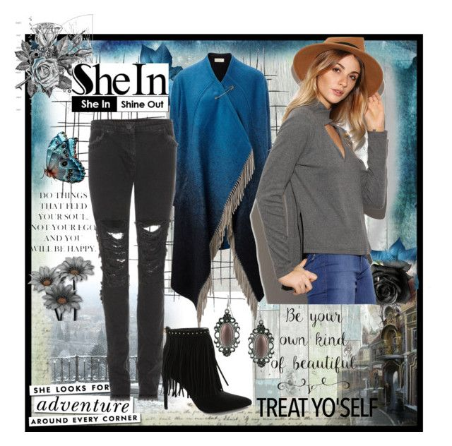 """""""SheIn - Beauty Inside"""" by kmorena ❤ liked on Polyvore featuring Wall Pops!, Boudicca, Wunderkind, Trilogy, Pierre Balmain, Kate Spade, Christopher Kane and 1928"""